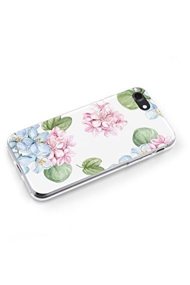 Lopard Apple İphone 8 Kılıf Yaprak Kelebekleri Kapak Renkli